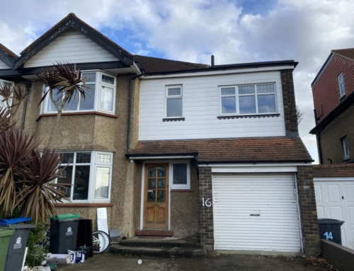 How to Convert a Berrylands Garage with an Asbestos Board Ceiling Case Study